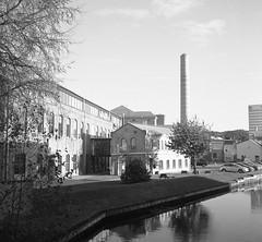 Gamla Almedalsvägen (rotabaga) Tags: sverige sweden svartvitt göteborg gothenburg lomo lomography lubitel166 ilford mediumformat mellanformat 120 6x6 square twinlens diy