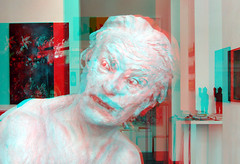 Sculpture by Virgilius Moldovan 3D (wim hoppenbrouwers) Tags: art ziczerp rotterdam 3d anaglyph stereo redcyan virgiliusmoldovan atrest gallery sculpture