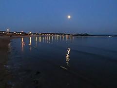Moonlit Sea! ('cosmicgirl1960' NEW CANON CAMERA) Tags: evening twilight bluehour sky sea cymru wales gogledd north llandudno seaside coastal gwynedd snowdonia eryri yabbadabbadoo westshore