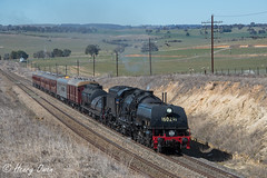 With Ease (Henry's Railway Gallery) Tags: 6029 ad60class thnsw transportheritagensw heritagetrain nswgr steamtrain cruiseexpress 6s65 passengertrain fishriver