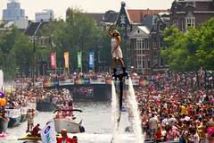 Canal Parade (Sarah Marston) Tags: amsterdampride 2018 august sony ilce6300 pride lgbtq canalparade krook flyboard ginkrook