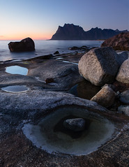 Cyclops (Andrew G Robertson) Tags: islands uttakleiv beach seascape blue hour sunset stack norway norge lofoten