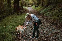 (HelloI'mJulia.) Tags: xt2 fuji fujixt2 fujifeed fujifilmxt2 focus forest hike hiking 35mm 35mmf14 nature woods trees lush dog lab shenandoah trail greenery green lightroom