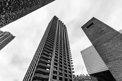 DAN_5027 (dan_c_west) Tags: nikon d750 london city urban uk england architecture building structure barbican estate wide angle bw black white monochrome brutalism concrete
