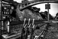 Le bon aiguillage... / The right railway switch... (vedebe) Tags: rails rail trains pont ponts noiretblanc netb nb bw monochrome gares gare