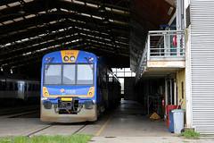 Taller Victoria (TrenSur) Tags: tren tld chile efe victoria araucanía fesur automotor diesel ferrocarril taller s593 renfe593