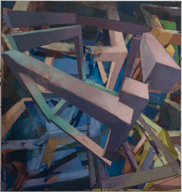influence, 140 x 150 cm, Eggtempera/Oil-Pigments, 2018