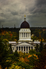 Maine State Capitol, Augusta, Maine (yerica38) Tags: maine state capitol mainecapitol mainestatecapitol augusta augustamainefall mainefall fallinmaine autumn leaves scenic landscape trees autumntrees outside outdoors autumnleaves