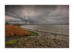 Ghost town Doel, België (cees van gastel) Tags: ceesvangastel canoneos550d landscape landschap luchten sigma1020mm skies bloemen belgium gaiapark ghosttown spookstad nuclearpowerstation kerncentrale clouds wolken water