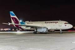 Eurowings D-AGWA HAJ at Night (U. Heinze) Tags: aircraft airlines airways airplane nikon night planespotting plane flugzeug haj hannoverlangenhagenairporthaj eddv