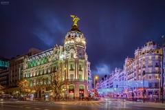 Gran Vía (Madrid) (-COULD 2.0) Tags: ngc sonyfe28mmf2 sony nightpuertaalcalámadrid madrid spain a7 sonya7