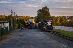 5173 shoving to the end of the line (Matthew DeLanghe) Tags: highhood hg norfolksouthern northcarolina ns nc train trees southern sunset rr rail