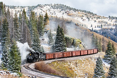 C&TS #484 near Los Pinos (Kyle Yunker) Tags: cumbres toltec scenic cts k36 steam freight engineers school narrow gauge snow colorado