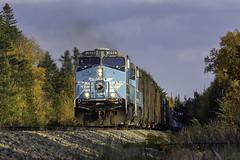 Job 1 at Kyleton (Thomas Coulombe) Tags: centralmainequebec cmq job1 geac4400cw ac4400cw freighttrain train fallcolors kyleton greenville maine mooseheadsub