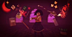 Accio Candy! (Reinette Bellefleur) Tags: okinawa panicofpumpkin halloween witch magic spell renbrand kmh oturun nw akorat neverwish