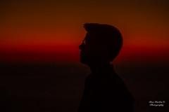 John (Ron Harbin Photography) Tags: sunset portrait beautiful red glow silhouette lefkada greece island nikon d750 85mm f14