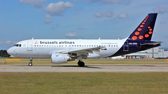 OO-SSA (AnDyMHoLdEn) Tags: brusselsairlines a319 lufthansagroup staralliance egcc airport manchester manchesterairport 23l