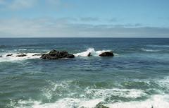Ocean (fraser_west) Tags: film 35mm analog colour ocean sea waves rocks nature wild coast clouds california usa travel roadtrip canon eos3 wetheconspirators