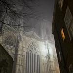 York Minster on a Misty Evening