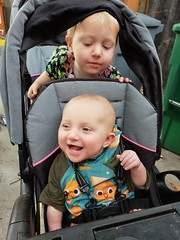 Paul and Eliza (quinn.anya) Tags: paul eliza baby toddler stroller smile brother sister