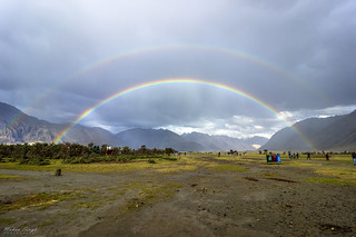 Nature at its best.. Double rainbow at Nubra Valley, Ladakh