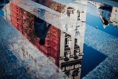 Vice (ewitsoe) Tags: 35mm city ewitsoe nikond80 street warszawa poland summer urban warsaw reflection sidewalk walking man silhouette crosswalk zebracrossing lines paveent streetscene wolrd europe pedestrian reflect sky buildings architecture polska