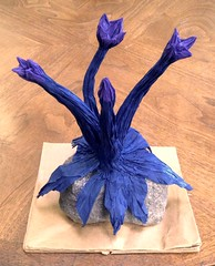Royal Andean Aerophyte (Tillandsia kami) (uqbarryn) Tags: art folded organic plant flower crumple origami sculpture paper