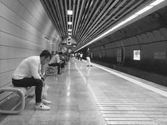 Marmaray Sirkeci (unHombre) Tags: olympus stylus marmaray istanbul metro subway train zug tren man waiting street streetphotography sokak olympusstylus1 people istasyon station ubahn sirkeci city urbanexplorer wall peron bahnsteig turkey türkei türkiye