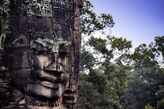 A Face At The Bayon, Cambodia (El-Branden Brazil) Tags: cambodia cambodian angkor angkorthom buddhist buddhism baphuon asia asian southeastasia khmer ancient sacred