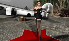 She has Arrived (2) (RAVEN'S ELEGANCE) Tags: planes vintage casablanca women sexy travel