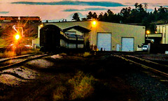 Day is Done, Now the Time for Tomorrow Trip! (Woodypug) Tags: grandcanyonrailway shops 4960 passenger coaches williams arizona bnsf eastbound train