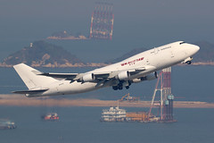 N707CK, 747-400BCF, Kalitta Air, Hong Kong (ColinParker777) Tags: n707ck boeing 747 744 747400f 744f 747400bcf 747sf b747 jumbo freighter cargo airplane airliner aviation fly flying flight takeoff plane aeroplane departure freight kalitta air airlines airways k4 cks connie 26395 922 7474b5bcf 7474b5f n539bc hl7485 hkg vhhh hong kong chek lap kok airport hk hksar barge reclamation canon 7d 7d2 7dmk2 7dmkii 7dii 200400 l lens zoom telephoto pro