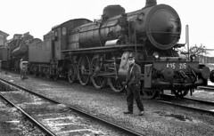 FS Gr 685.215 + Gr 743 DL Cremona 23/03/1969. Foto Roberto Trionfini (stefano.trionfini) Tags: train treni bahn zug fs gr685 gr743 cremona lombardia italia italy steam vapore dampf