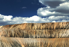 modern-day mining (oldogs) Tags: mine goldmining abstract stripes lines texture anfo landscape