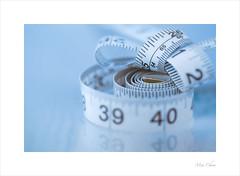 Measurement (Meu - Catching up... :-)) Tags: macromondays measurement measuringtape macro soft blue