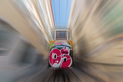 Speed Of Sound (sdupimages) Tags: lisboa lisbon lisbonne street rue funicular funiculaire elevador speed vitesse photoshop transport transportation travel voyage