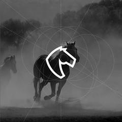 Horse logo Process (inspiration_de) Tags: animal geometric horse logodesign minimal monogram negativespace process