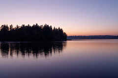 Autumn eve (Antti Tassberg) Tags: reflection espoo hdr syksy landscape pitkäjärvi järvi ilta autumn evening fall lake twilight uusimaa finland fi