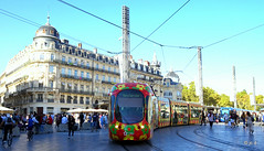 Montpellier (jc.d the cycling photographer) Tags: france francese languedocroussillonmidipyrénées hérault tam tram tramway ligne1 ligne 2 ligne3 lez portmarianne parcmarianne richter placedelacomédie mosson