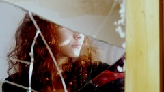 (juliettelobert) Tags: brokenmirror mirror selfportrait autoportrait self girl redhair