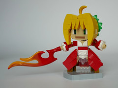 Aka Saber (LegoWyrm) Tags: anime fategrandorder chibi nero saber lego