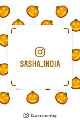 example of nametag for Instagram (Sasha India) Tags: instagram nametag instatag tag name sashaindia дизайн qrcode design 設計 디자인 التصميم σχέδιο डिज़ाइन வடிவமைப்பு desenhar projekt עיצוב desain pumpkin calabaza