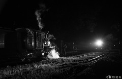 Cross (Dobpics O'Brien) Tags: engine emerald rail railway railways train steam special twilight locomotive pbr puffingbilly puffing pbps pass billy belgrave narrow night na gauge victorian victoria vr climax 1694 12a nighttrain