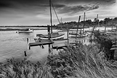 High Tide, Blakeney (andybam1955) Tags: quay landscape blakeney coastal clouds boats northnorfolk rural norfolk hightide sea