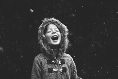 First snow fall! (Elizabeth Sallee Bauer) Tags: nature active child childhood coat cold cozy fun girl kid nonurbanscene outdoors outside playing snow snowfall white winter youth
