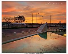 Morning bliss (edit eye) Tags: awakening beautiful beautifullight budapest dawn light morning orange pool reflection sky sun sunrise water