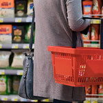 Midsection of Woman in Supermarket thumbnail