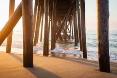Under the Pier at Sunrise (Joe_R) Tags: beach landscape sunrise ocean pier belmar newjersey unitedstates us