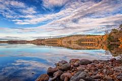 lakeside (anderswetterstam) Tags: fall lake landscape nature seasons water sky clouds reflection trees rocks autumn beauty