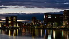 Brayford wharf Lincoln (Glenn Birks) Tags: lincoln brayford warf light reflections university night long exposure water lincolnshire eastengland unitedkingdom nikond750